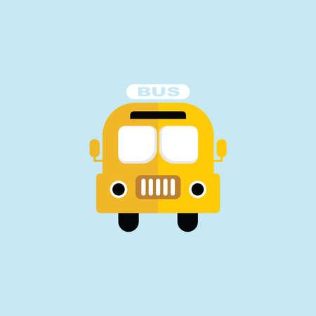 tour bus: Flat icon of Bus