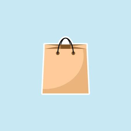 Flat Icon Of Shopping Bag Illustration
