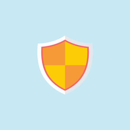 Flat Icon Of Shield