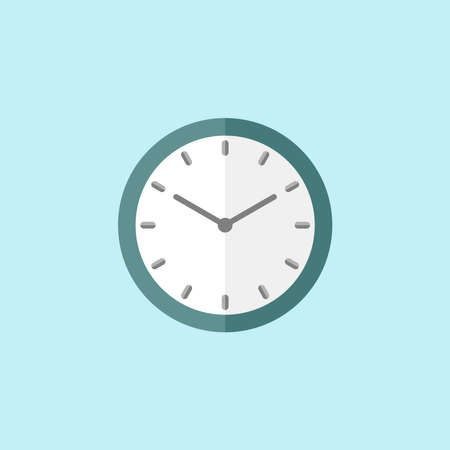 Flat Icon Of Clock