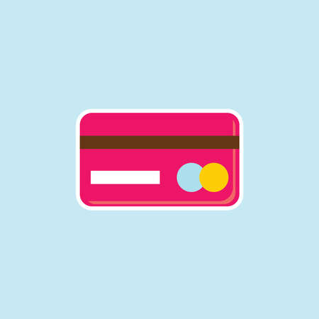 Flat Icon Of Credit Card