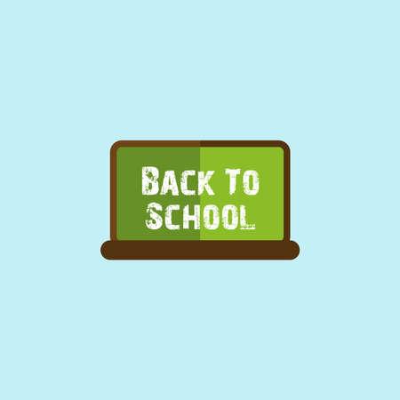 Flat Icon Of Education Back to School Chalkboard