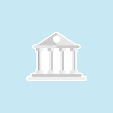 Flat Icon Of Bank
