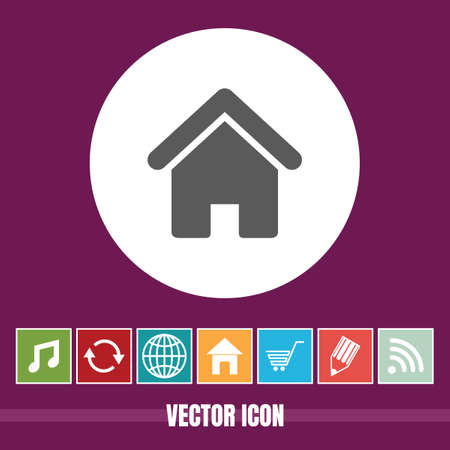 very Useful Vector Icon Of Home with Bonus Icons Very Useful For Mobile App, Software & Web