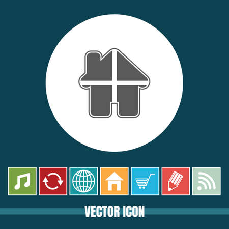 very Useful Vector Icon Of Home with Bonus Icons Very Useful For Mobile App, Software & Web Illustration