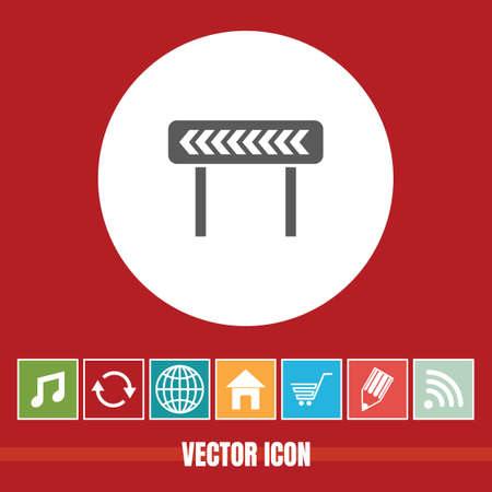 very Useful Vector Icon Of Road Diversion with Bonus Icons Very Useful For Mobile App, Software & Web  イラスト・ベクター素材