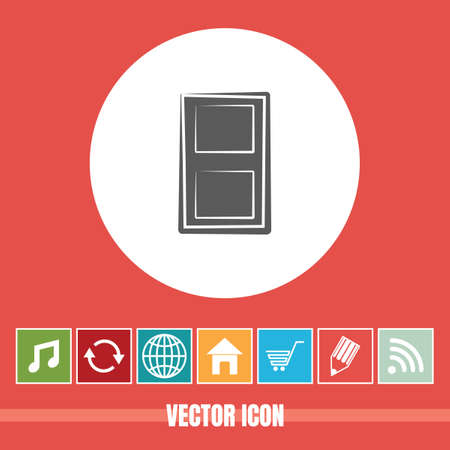 very Useful Vector Icon Of Door with Bonus Icons Very Useful For Mobile App, Software & Web