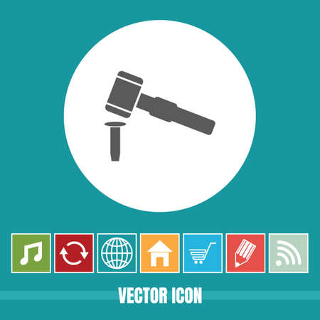 very Useful Vector Icon Of Chisel & Hammer with Bonus Icons Very Useful For Mobile App, Software & Web