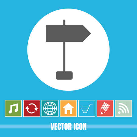 very Useful Vector Icon Of Road Sign with Bonus Icons Very Useful For Mobile App, Software & Web