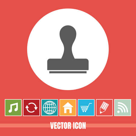 very Useful Vector Icon Of Rubber Stamp with Bonus Icons Very Useful For Mobile App, Software & Web