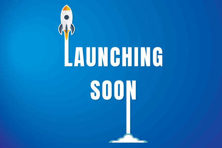 Creative Launching Soon Poster Design. Иллюстрация