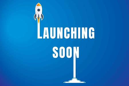 Creative Launching Soon Poster Design. Illustration