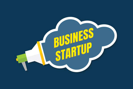 Business Start up concept poster.