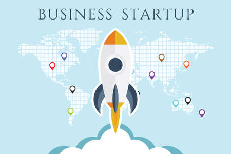 Business Start up concept poster. Imagens - 128471646