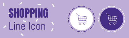 Shopping Cart Line icon. Useful Graphic elements for All Kinds of Designing Work.