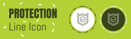 Protection Line icon. Useful Graphic elements for All Kinds of Designing Work. Ilustração