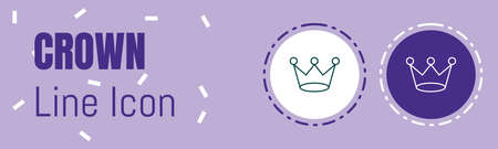 Crown Line icon. Useful Graphic elements for All Kinds of Designing Work.