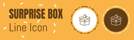Surprise Box Line icon. Useful Graphic elements for All Kinds of Designing Work.