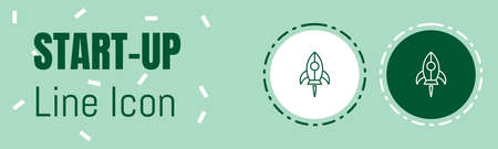 Start up Line icon. Useful Graphic elements for All Kinds of Designing Work. Imagens - 134822556