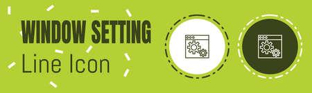 Window Setting Line icon. Useful Graphic elements for All Kinds of Designing Work. Ilustração