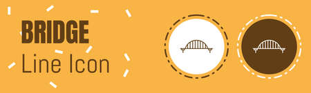 Bridge Line icon. Useful Graphic elements for All Kinds of Designing Work. Imagens - 134822553