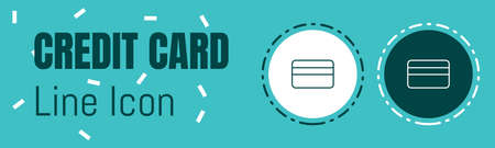 Credit Card Line icon. Useful Graphic elements for All Kinds of Designing Work.