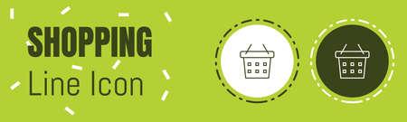 Shopping Basket Line icon. Useful Graphic elements for All Kinds of Designing Work. Ilustração