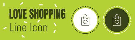 Love Shopping Line icon. Useful Graphic elements for All Kinds of Designing Work. Ilustração