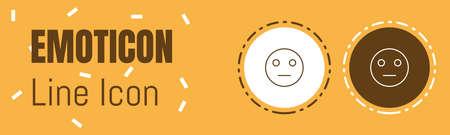 Emoticon Line icon. Ilustração