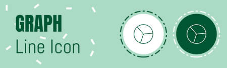 Graph Line icon. Useful Graphic elements for All Kinds of Designing Work.