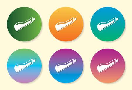 Paper Cutter six color gradient icon design.