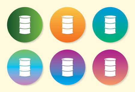 Drum six color gradient icon design.