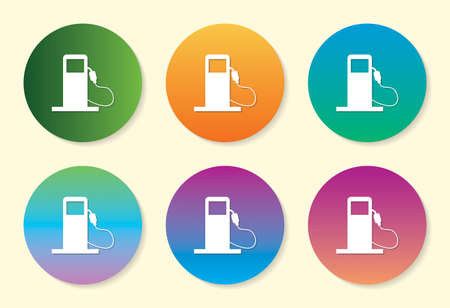 Filling Station six color gradient icon design.