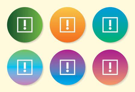 Alert six color gradient icon.