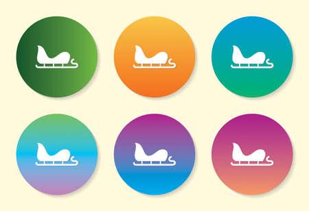Sleigh six color gradient icon. Standard-Bild - 138471549