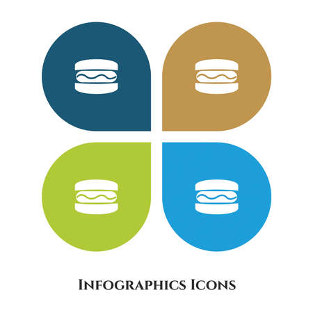 Burger Vector Illustration icon for all purpose. Isolated on 4 different backgrounds. Vettoriali