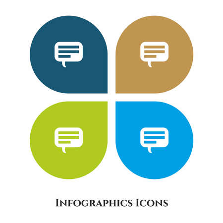 Comments or Speech Bubble Vector Illustration icon for all purpose. Isolated on 4 different backgrounds.