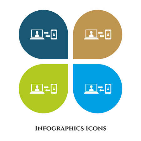 Data Transfer Vector Illustration icon for all purpose. Isolated on 4 different backgrounds.