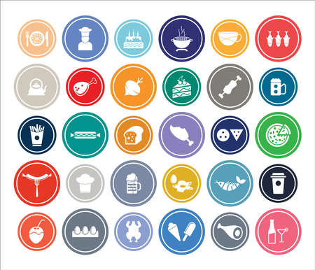 Food & Drink Infographic Round design Icon Sets For Web, App And Design.