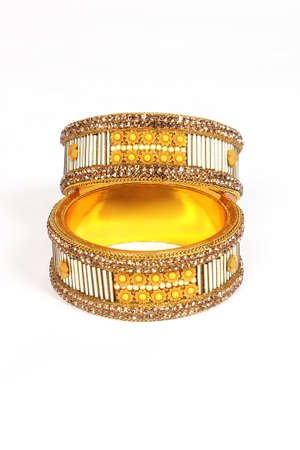 Ethnic Traditional Indian Bangle Wear in Wrist.