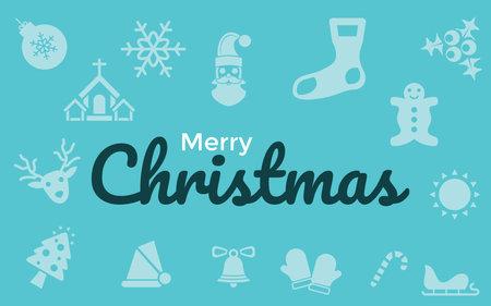 Very Useful & Attractive Christmas Icons With Merry Christmas Message. 版權商用圖片 - 160972075