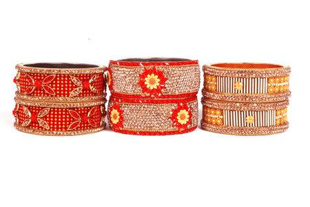 Ethnic Traditional Indian Bangle Wear in Wrist. 版權商用圖片 - 161594892