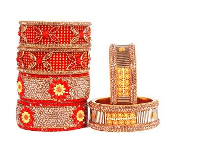 Ethnic Traditional Indian Bangle Wear in Wrist. 版權商用圖片 - 161594895