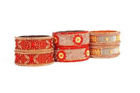 Ethnic Traditional Indian Bangle Wear in Wrist. 版權商用圖片 - 161594896