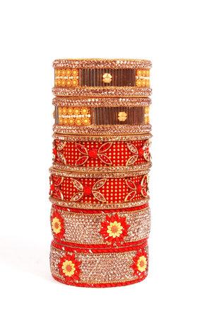Ethnic Traditional Indian Bangle Wear in Wrist. 版權商用圖片 - 161594921