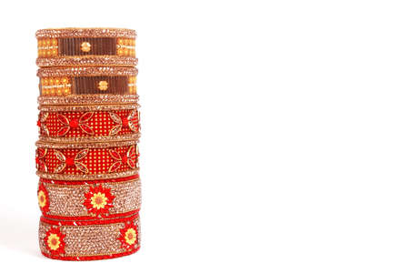 Ethnic Traditional Indian Bangle Wear in Wrist. 版權商用圖片 - 161594930
