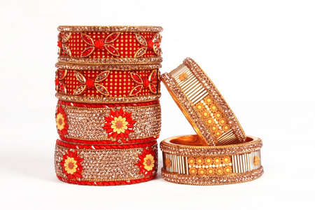 Ethnic Traditional Indian Bangle Wear in Wrist. 版權商用圖片 - 161594935