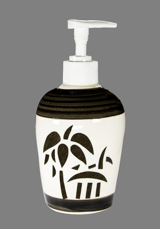 ceramic soap dispenser black white tree pattern