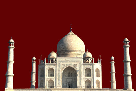Front View of Taj Mahal with brown background