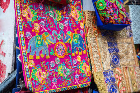 Indian colorful handcraft Embroidery bags, Handmade designer cotton women s purse and hand bags, indian market - Image